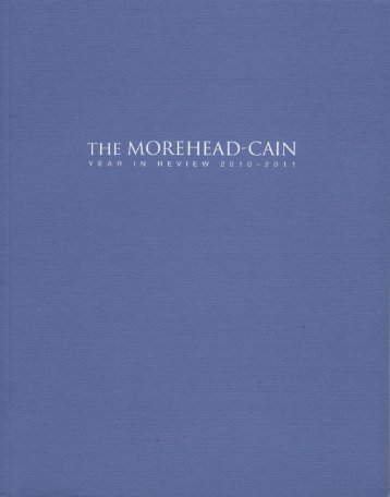 Year in Review 2010-2011 - Morehead-Cain