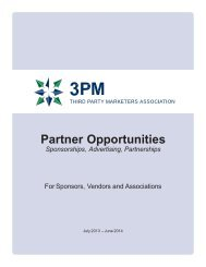 Partnership Kit - 3PM - Third Party Marketers Association