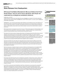 EPA issues Mercury and Air Toxics Standards ... - Coal Train Facts