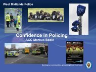 Presentation by ACC Marcus Beale WMP - West Midlands Police ...