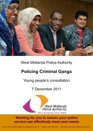 Policing Criminal Gangs - West Midlands Police and Crime ...