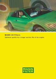 MANN Oil Filters - Air Now Supply