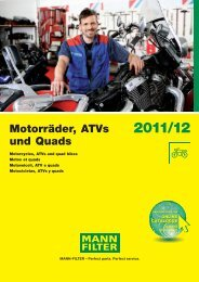 Mann Filter Motorcycle - Air Now Supply
