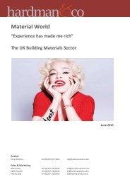 Material World- UK Building Materials June 2015