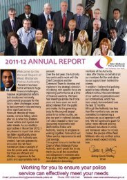Annual Report 2012 - West Midlands Police and Crime Commissioner