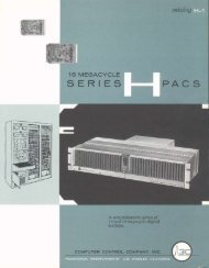 Series H PACS Catalog H-1 (1961)
