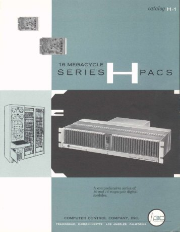 Series H PACS Catalog H-1 (1961)