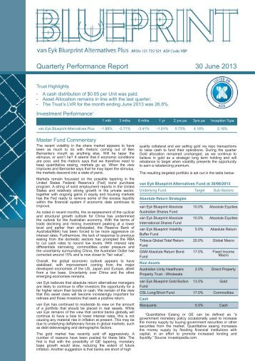 Entrust capital diversified fund ltd as of june 30 2013 quarterly performance report 30 june 2013 aurora funds malvernweather Images