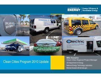 Clean Cities Program 2010 Update - West Coast Corridor Coalition