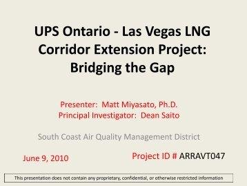 UPS Ontario - Las Vegas LNG Corridor Extension Project: Bridging ...