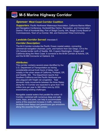 Marine Highway Corridor Descriptions - West Coast Corridor Coalition