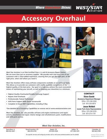 Accessory Overhaul - West Star Aviation
