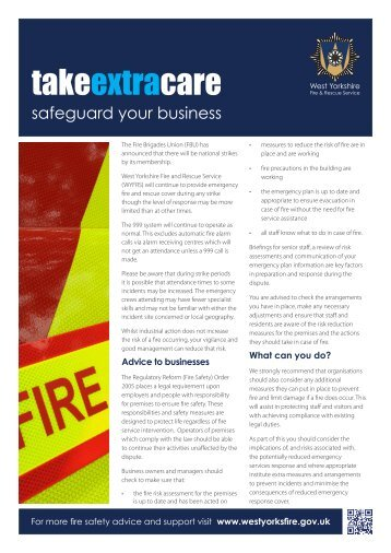 takeextracare - West Yorkshire Fire Service