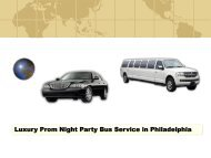 Luxury Prom Night Party Bus Service in Philadelphia