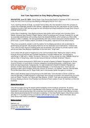 Ivan Yuen Appointed as Grey Beijing Managing Director