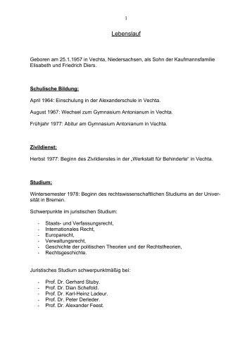 Lebenslauf - DIE LINKE in Bremen