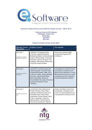 Classroom based training course detail & schedule ... - KBB Gateway