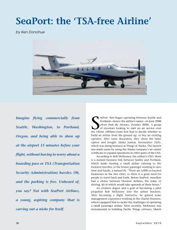 SeaPort: the 'TSA-free Airline' - Ken Donohue