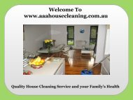 Quality House Cleaning Services