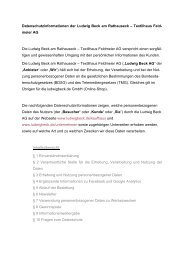 Link zur Datenschutzinformation (PDF) - Ludwig Beck