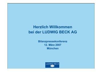 Herzlich Willkommen bei der LUDWIG BECK AG