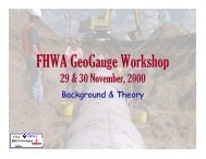FHWA GeoGauge Workshop - Hanmicorp.net