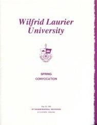 Download spring convocation 1989 program (PDF) - OurOntario.ca