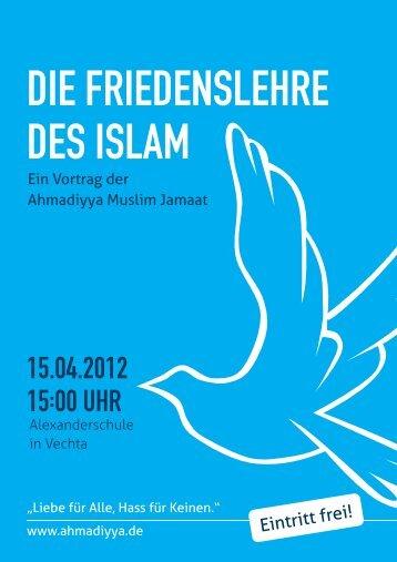 DIE FRIEDENSLEHRE DES ISLAM - Ahmadiyya Muslim Community