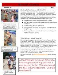 September Newsletter - Maverick Aquatics