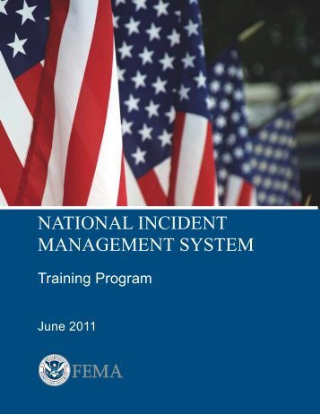 NIMS Training Program - WV Dept. of Military Affairs and Public Safety