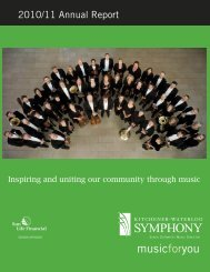 2011 Annual report FINAL - Kitchener-Waterloo Symphony