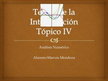 Análisis Numérico Alumno:Marcos Mendoza