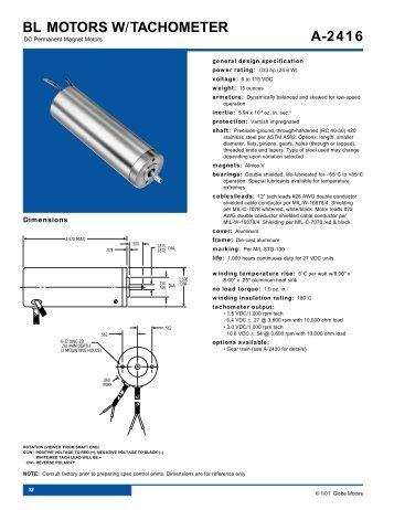 E 2420 Im 15 Motors W Optical Encoder Globe Motors