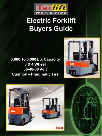 TAILIFT ELECTRIC BUYERS GUIDE.. - Worldwide Forklifts