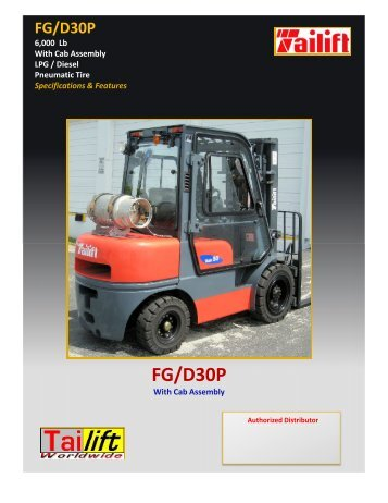 FGFD30P with Cab - Worldwide Forklifts