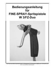 Bedienungsanleitung für FINE-SPRAY-Spritzpistole W 3 ... - Air-Com