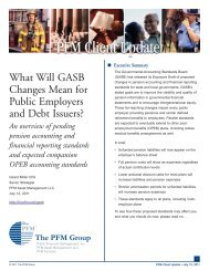 What Will GASB Changes Mean for Public Employers and ... - PFM