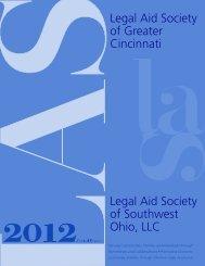 Legal Aid Society of Greater Cincinnati Annual Report 2012