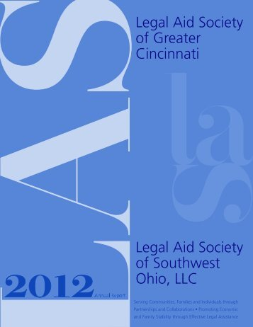 Legal Aid Society of Greater Cincinnati Annual Report 2012