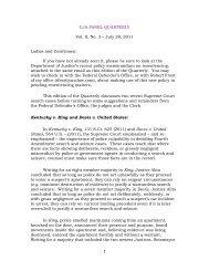 1 CJA PANEL QUARTERLY Vol. II, No. 3 - Federal Defender Office ...