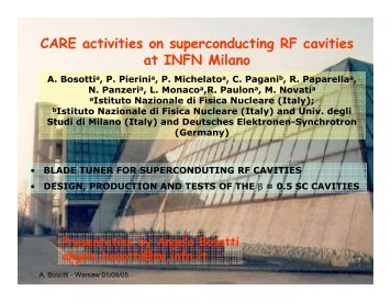 CARE activities on superconducting RF cavities at INFN Milano