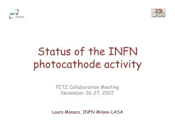 Status of the INFN photocathode activity - Superconducting RF ...
