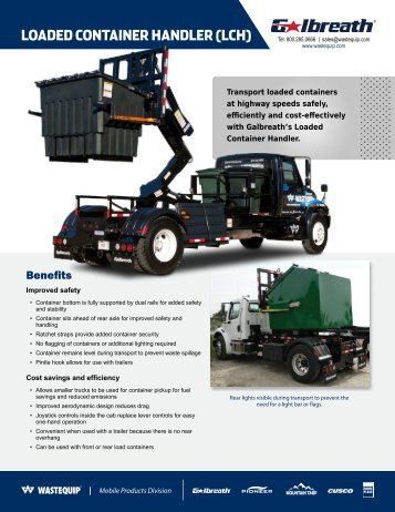 LOADED CONTAINER HANDLER (LCH) - Wastequip