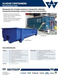 SLUDGE CONTAINERS - Wastequip