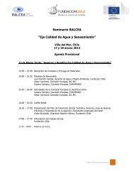 Programa Preliminar reunion Eje Calidad de Agua y ... - Aquaknow