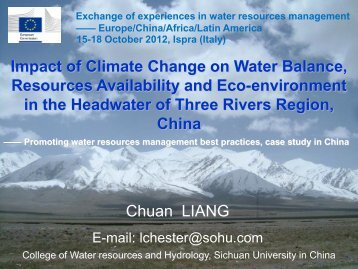 Impact of Climate Change on Water Balance ... - Aquaknow