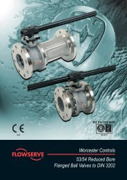 Worcester Controls 53/54 Reduced  Bore Flanged Ball Valves to DIN ...