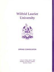 Download June 5 1998 convocation program (PDF) - OurOntario.ca