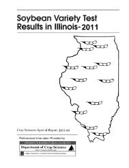 2011 Soybean Variety Test Results in Illinois - Variety Testing