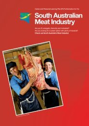 South Australian Meat Industry - FTH Skills Council